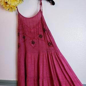 Lovely Sun Dress in pretty wine color Sz Med